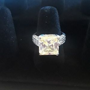 Jewelry - Very Large Faux Diamond Solitaire Ring